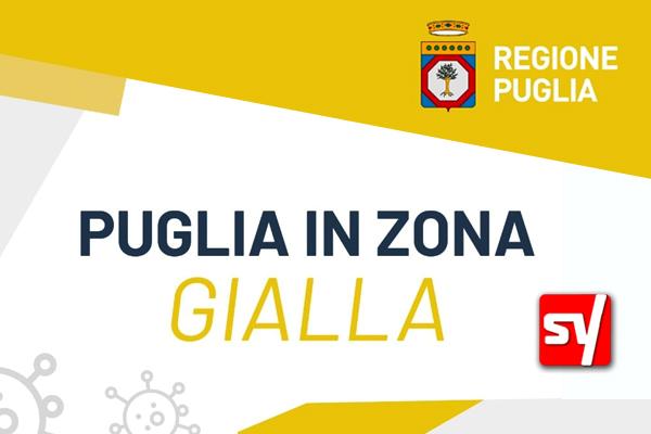 Puglia, dal 10 maggio è zona gialla